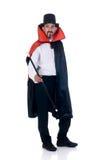 Halloween, Count Dracula. Halloween fun en creepy Count Dracula on white background Stock Photos