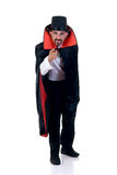Halloween, Count Dracula. Halloween fun en creepy Count Dracula pointing at you, white background stock photos