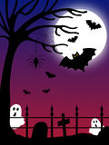 Halloween Country Scene [2]. A Halloween country night scene royalty free illustration