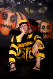 Halloween couple cat dalton Stock Photography