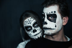 Halloween couple Royalty Free Stock Photos
