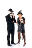 Halloween couple fun Royalty Free Stock Image