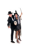 Halloween couple fun Stock Image