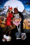 Halloween couple graffiti Stock Photo