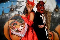 Halloween couple graffiti Royalty Free Stock Images