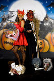 Halloween couple graffiti Royalty Free Stock Images