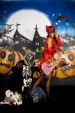 Halloween couple graffiti Royalty Free Stock Photo