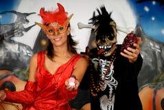 Halloween couple graffiti Royalty Free Stock Photos