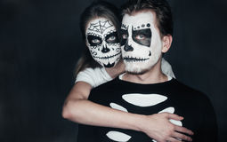Halloween couple in love Royalty Free Stock Photography