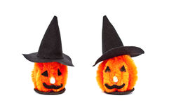 Halloween craft home decorations and ornaments, isolated on white Stock Photo