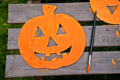 Halloween Craft Project Royalty Free Stock Photo