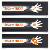 Halloween creative banners template Stock Image