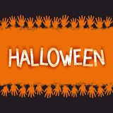 Halloween creative 3d lettering Stock Photography
