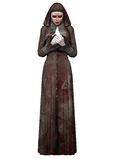 Halloween Creature - Bloody Nun Royalty Free Stock Photography