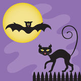 Halloween creatures Stock Images