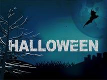 Halloween creepy dark blue background Stock Photos