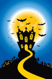 Halloween Creepy Hill Stock Photography