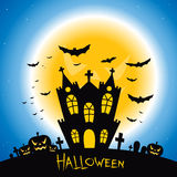 Halloween Creepy House Stock Images