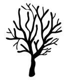 Halloween creepy scary bare tree vector symbol icon design. Stock Photos