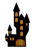 Halloween creepy scary hounted house, vector symbol icon design. Stock Photography