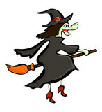 Halloween creepy scary witch vector symbol icon design. Stock Photography