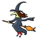 Halloween creepy scary witch vector symbol icon design. Royalty Free Stock Photos