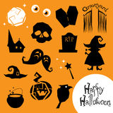 Halloween creepy vector icons Royalty Free Stock Photo