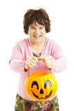 Halloween Cross-dresser Royalty Free Stock Image