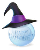 Halloween crystal ball Stock Photos