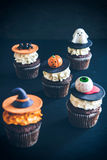 Halloween cup cakes Stock Photography