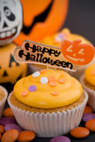 Halloween cupcake Royalty-vrije Stock Foto