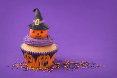 Halloween cupcake Royalty-vrije Stock Afbeelding