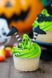Halloween Cupcake Royalty-vrije Stock Afbeeldingen