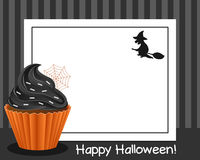 Halloween Cupcake Horizontal Frame [4] Stock Photography
