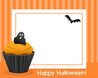 Halloween Cupcake Horizontal Frame [3] Royalty Free Stock Photo