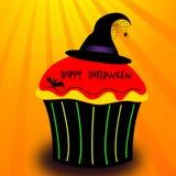 Halloween cupcake illustration Stock Images