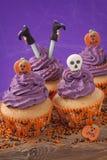Halloween cupcake Stock Photo