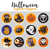 Halloween cupcake toppers Stock Photography