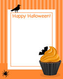 Halloween Cupcake Vertical Frame [3] Stock Photo