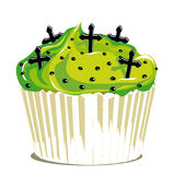 Halloween cupcake whit crosses Stock Images