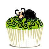 Halloween cupcake whit mouse Royalty Free Stock Image