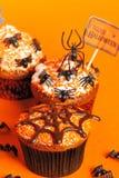 Halloween cupcakes Stock Photography
