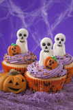 Halloween cupcakes Stock Fotografie