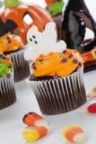 Halloween cupcakes Royalty-vrije Stock Afbeelding