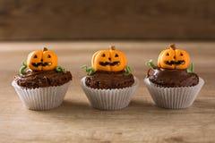 Halloween cupcakes Stock Afbeelding