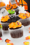 Halloween cupcakes Royalty-vrije Stock Foto's