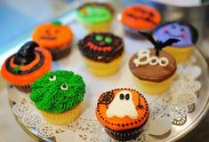 Halloween cupcakes Royalty-vrije Stock Fotografie