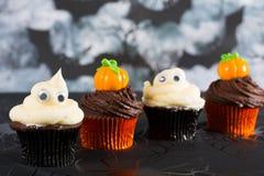 Halloween cupcakes Royalty-vrije Stock Foto