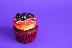 Halloween cupcakes on background. Royalty Free Stock Photos