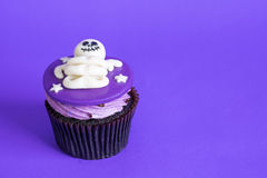 Halloween cupcakes on background. Royalty Free Stock Photography